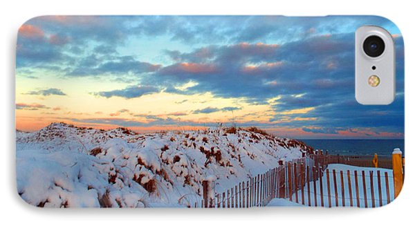 Snow Dunes At Sunrise IPhone Case
