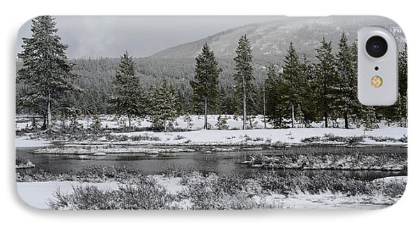 Snow-dusted Gibbon Meadows In Yellowstone Phone Case by Bruce Gourley
