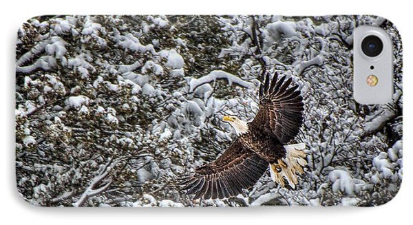 IPhone Case featuring the photograph Snow Flight Bald by Britt Runyon