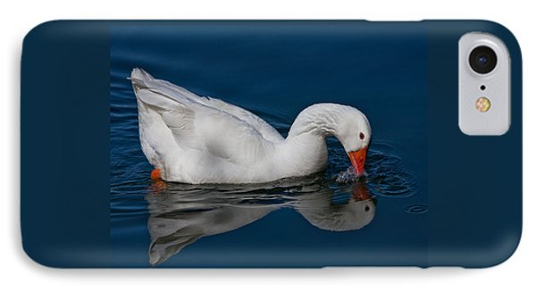 Snow Goose Reflected Phone Case by John Haldane