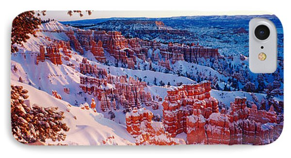 Snow In Bryce Canyon National Park IPhone Case