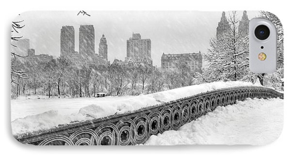 Snow In Central Park Nyc IPhone Case