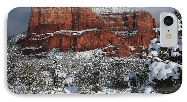 Snow In Sedona IPhone Case by Donna Kennedy