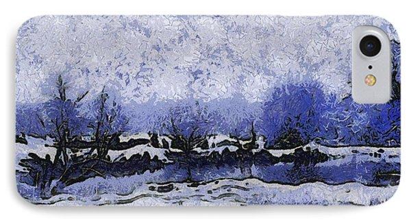 Snow In Texas Van Gogh Style Phone Case by Lorri Crossno