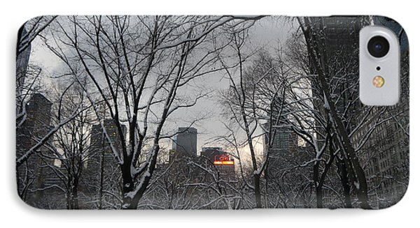 IPhone Case featuring the photograph Snow In The City by Winifred Butler