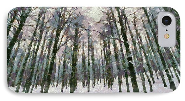 Snow In The Forest Phone Case by George Atsametakis
