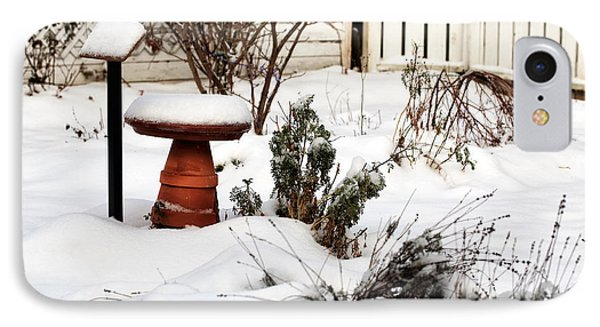 Snow In The Garden IPhone Case by John Rizzuto