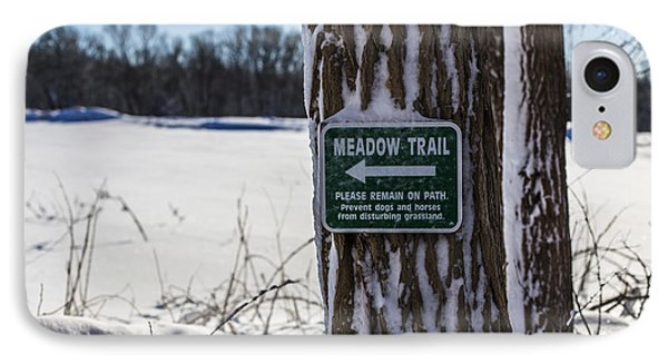 Snow In The Meadow Phone Case by Andrew Pacheco