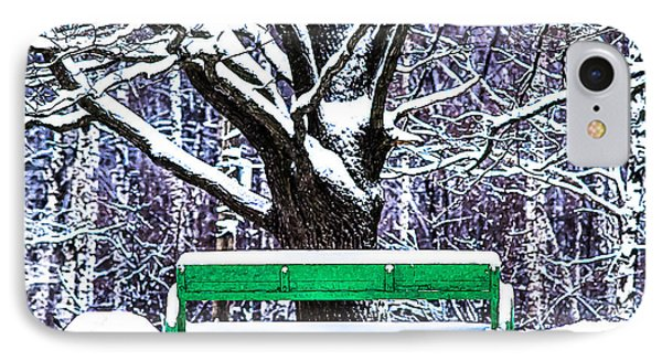 Snow In The Park IPhone Case by Alexander Senin