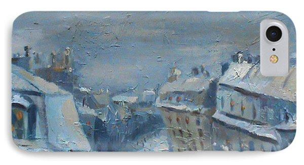 Snow Is Paris Phone Case by NatikArt Creations