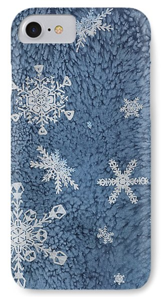 IPhone Case featuring the painting Snow Jewels by Margaret Bobb