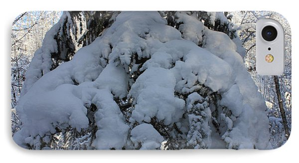 Snow-laden Tree IPhone Case by Jim Sauchyn