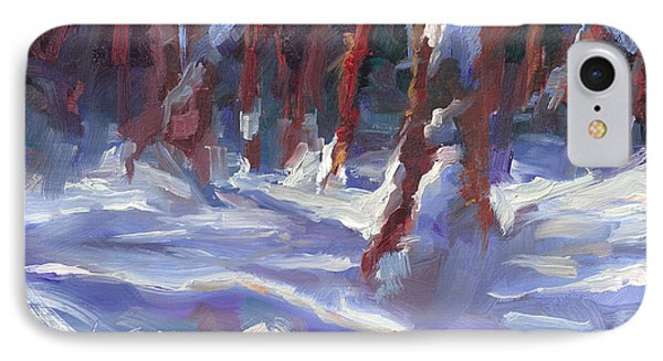 Snow Laden - Winter Snow Covered Trees Phone Case by Talya Johnson