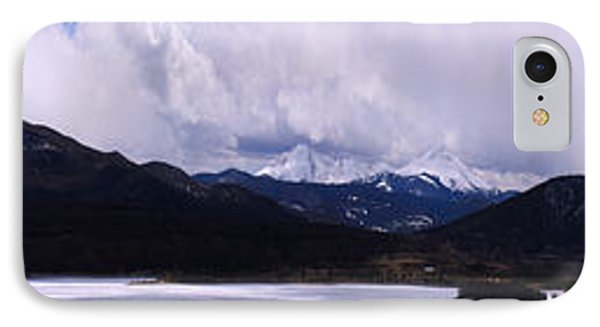Snow Lake And Mountains Phone Case by Maria Arango Diener