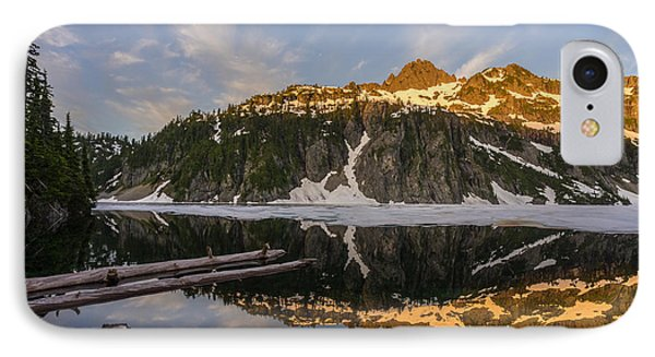 Snow Lake Morning Reflection IPhone Case by Mike Reid