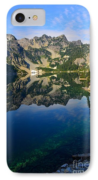 Snow Lake Reflections IPhone Case by Jane Axman