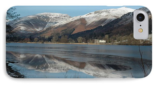 Snow Lake Reflections IPhone Case by Kathy Spall