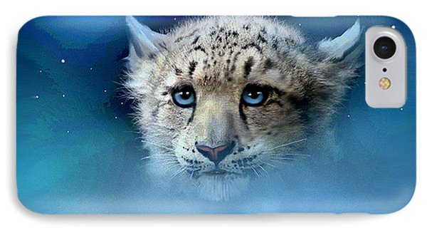 Snow Leopard Cub Phone Case by Robert Foster