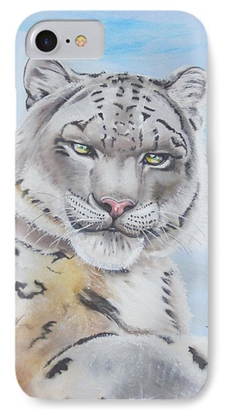 Snow Leopard IPhone Case by Thomas J Herring