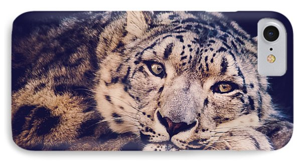 Snow Leopard IPhone Case by Sara Frank