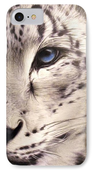 Snow Leopard IPhone Case by Sheena Pike