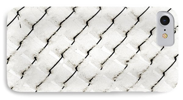 Snow Link Fence Phone Case by Andee Design