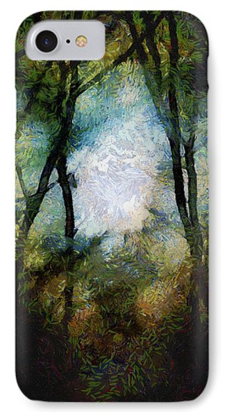 Snow Moon Embrace Phone Case by RC deWinter