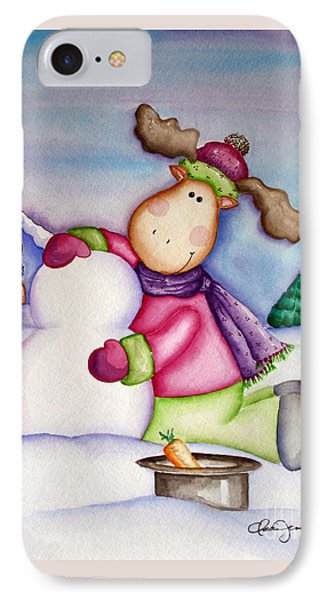 Snow Moose IPhone Case by Dani Abbott