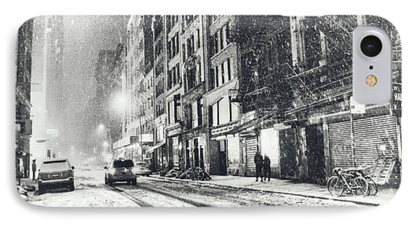 Snow - New York City - Winter Night IPhone Case
