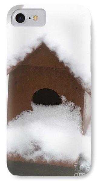 Snow On Bird House IPhone Case by Birgit Tyrrell