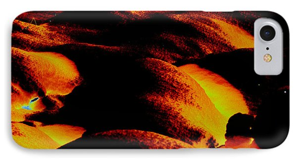 Snow On Fire Phone Case by Carol Lynch