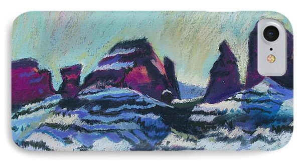 Snow On Peaks IPhone Case by Linda Novick