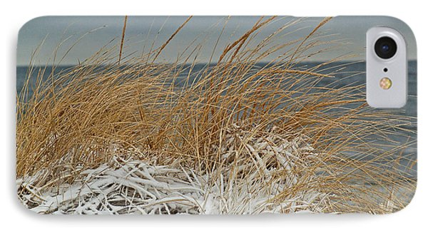 Snow On The Dunes Phone Case by Nancy Landry