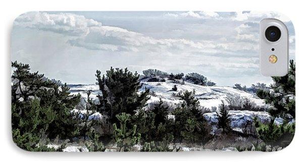 IPhone Case featuring the photograph Snow On The Dunes Photo Art by Constantine Gregory
