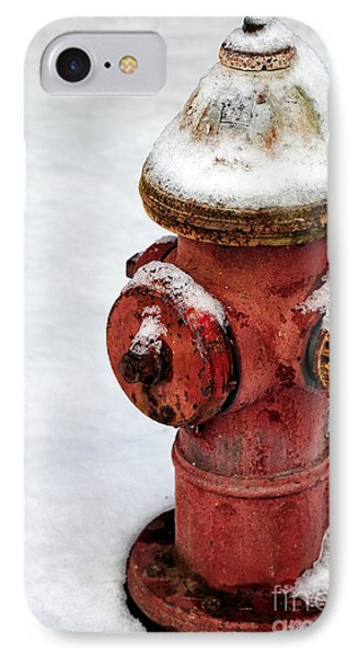 Snow On The Hydrant Phone Case by John Rizzuto