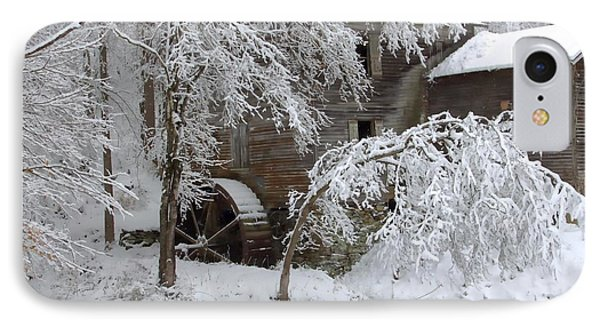 Snow On The Mill IPhone Case by Benanne Stiens