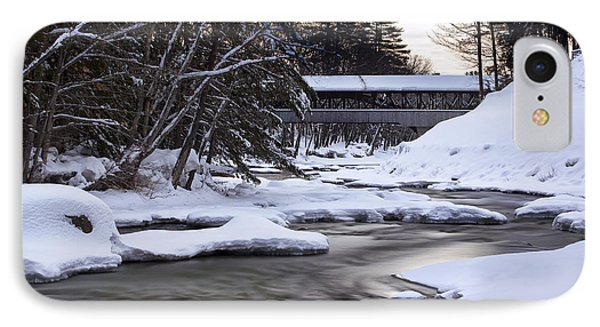 Snow On The Saco IPhone Case by Eric Gendron