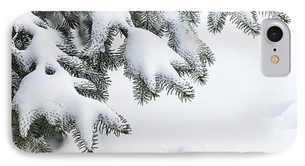 Snow On Winter Branches Phone Case by Elena Elisseeva