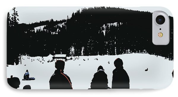IPhone Case featuring the photograph Snow Park Fun  by Mindy Bench