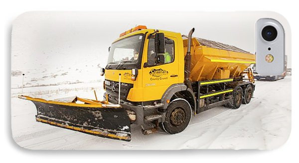 Snow Plough On The Road IPhone Case by Ashley Cooper