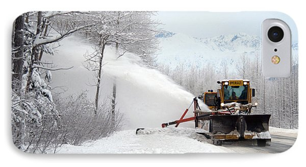 Snow Plow Phone Case by Mark Newman