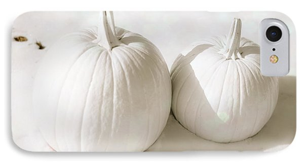 Snow Pumpkins IPhone Case by Sonja Quintero