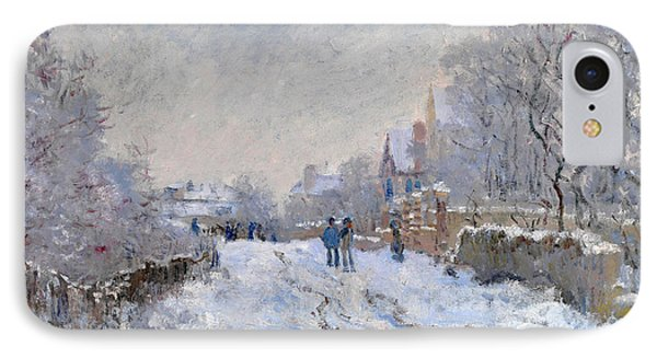Snow Scene At Argenteuil IPhone Case by Claude Monet