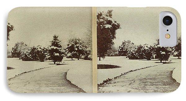 Snow Scene Cheltenham, Uk, Baynham Jones IPhone Case