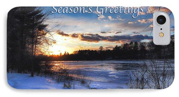 Snow Scene Holiday Card 2 IPhone Case by Joann Vitali