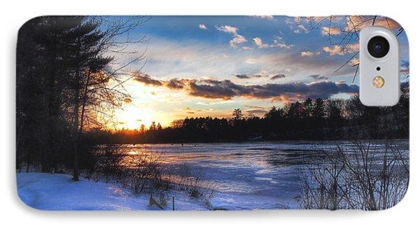 Snow Scene Holiday Card 3 IPhone Case by Joann Vitali