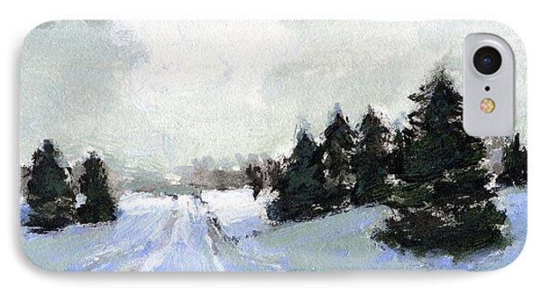 Snow Scene IPhone Case by J Reifsnyder
