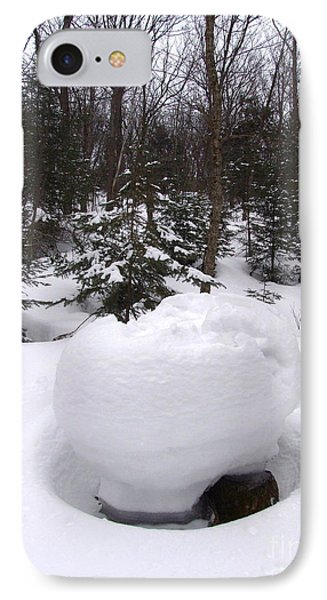 Snow Sculpture - Algonquin - Canada IPhone Case by Phil Banks
