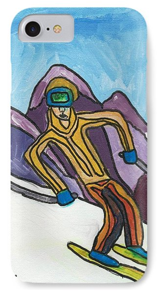 Snow Skier IPhone Case by Artists With Autism Inc
