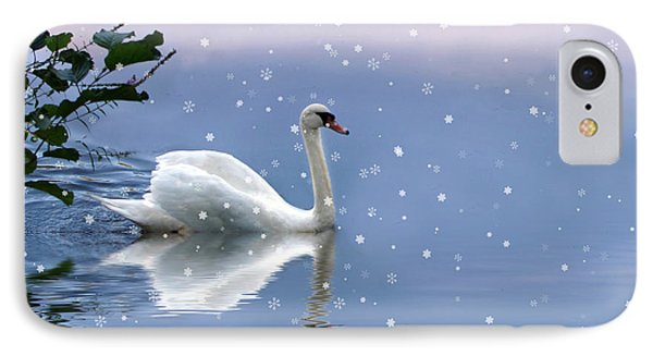 Snow Swan  IPhone Case by Jessica Jenney